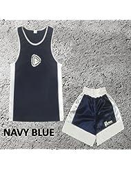 Garçons - Ensemble uniforme de boxe 2 pièces (haut & short) - 3-4 ans, Bleu marine