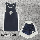 Garçons - Ensemble uniforme de boxe 2 pièces (haut & short) - 9-10 ans, Bleu marine