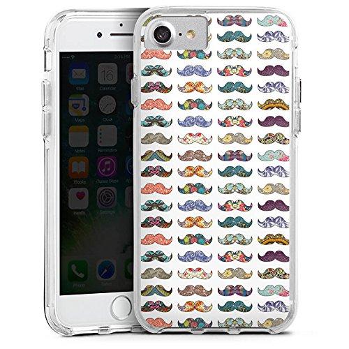 Apple iPhone 6s Bumper Hülle Bumper Case Glitzer Hülle Schnurrbart Moustache Hipster Bumper Case transparent