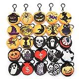 KING DO WAY 25 pcs Weinachten Plüsch Spielzeug Kissen Mini Emoticon Keychain Anhänger Handtasche Party Dekoration Kinder Partei (25 Halloween)