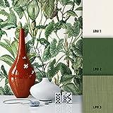 NEWROOM Blumentapete Grün Vliestapete Blumen Muster/Motiv schöne moderne und edle Design Optik, inklusive Tapezier Ratgeber