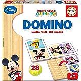 Educa Juegos - Disney Dominó de madera con motivo de Mickey y Minnie (16037)