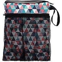 Bolsa para la bolsa de pañales sucios y un pañal limpio para el bebé neceser bolsa de cosméticos Triangles [063]