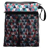 Windeltasche Reise Kosmetiktasche Tasche für schmutzige und saubere Windeln Triangles