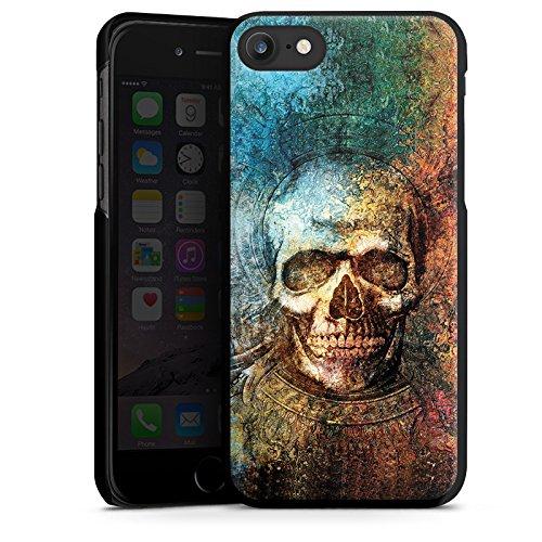 Apple iPhone X Silikon Hülle Case Schutzhülle Psycho Totenkopf Skull Hard Case schwarz