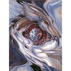 Cuadro sobre lienzo 60 x 80 cm: Dancing dragons de Jody Bergsma / MGL Licensing - cuadro terminado, cuadro sobre bastidor, lámina terminada sobre lienzo auténtico, impresión en lienzo
