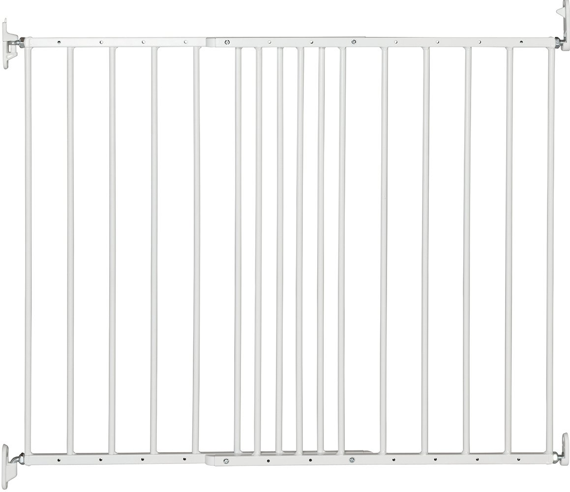 BabyDan Multidan Extending Metal Safety Gate, White  Screw fitted extending metal safety gate meeting latest EN1930:2011 safety standard The gate is fully adjustable and will fit a wide variety of openings  62.5cm - 106.8cm Simple to build and comes complete with all fixings 1