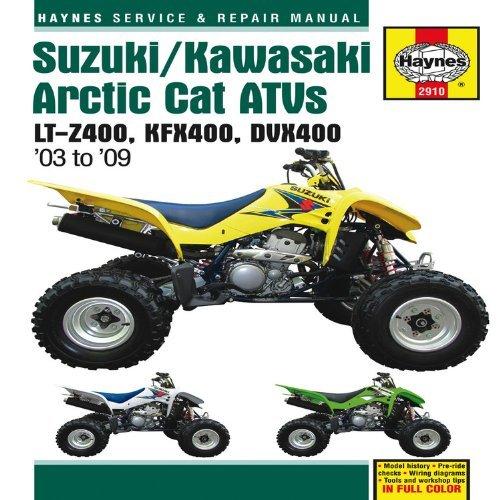 Suzuki/Kawasaki Artic Cat ATVs 2003 to 2009: LT-Z400, KFX400, DVX400 (Haynes Repair Manual) by Editors of Haynes Manuals (2011-09-15)