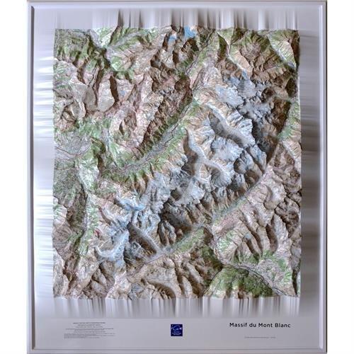 Massif Mont-Blanc Relief Map: IGNR60053 par IGN