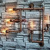 XiYunHan Vintage Eisenrohrbeleuchtung europäischen antiken Wandleuchte Wohnaccessoires Bar Restaurant Hotel Beleuchtung Manuelle Elektrische Lampe 5 Glühbirnen E27