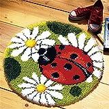 8 Modell Marienkäfer Knüpfteppich Formteppich für Kinder und Erwachsene zum Selber Knüpfen Teppich Latch Hook Kit child Rug Animal 025 50 by 40 cm