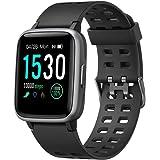 YAMAY Smartwatch, Impermeable Reloj Inteligente con Cronómetro, Pulsera Actividad Inteligente para Deporte, Reloj de Fitness