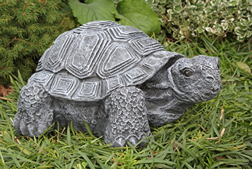 Gartenfigur Schildkröte groß - Schiefergrau, Deko, Figur, Garten, Stein, frostsicher
