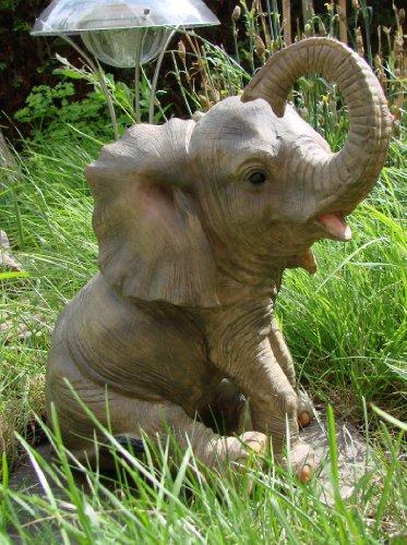 Elefant Jumbo sitzend Afrika Figur Skulptur Tierfigur Gartenfigur