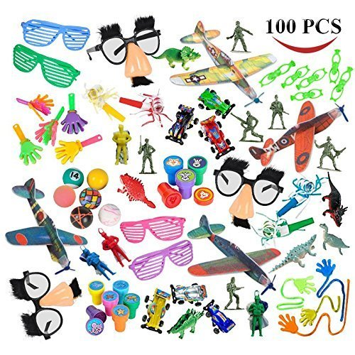 Joyin Toy Over 100 Pc Party Favor Toy Assortment Kids Party Favor, Birthday Party, School Classroom Rewards, Carnival Prizes, Pinata Toys, Stocking Stuffers by Joyin Toy (Party Favor 100)
