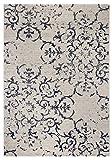 Andiamo 1100512 Vintageteppich Kurzflor Puerto Teppich, Polypropylen, creme-Blau, 120 x 170 cm