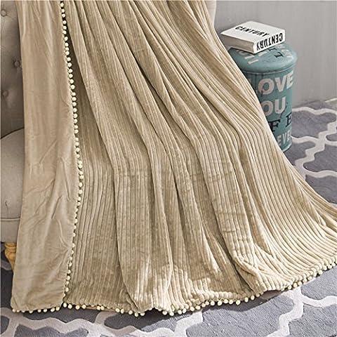 BDUK Corallo Crystal-Dyed Blanket-Stripe Trapunta Flannel e impianto di condizionamento dell'aria e