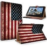 """art&cherry 7"""" (7Zoll) Tablet / Tablet-PC Hülle Case - Fintie Ultradünne Smart Shell Cover Lightweight Schutzhülle Tasche Etui USA"""