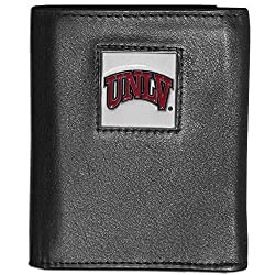 NCAA UNLV Rebels Deluxe Leather Tri-fold Wallet