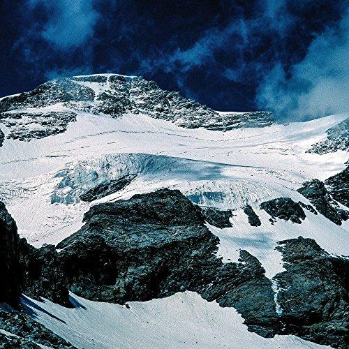 Apple iPhone 4 Housse Étui Silicone Coque Protection Montagne Montagnes Neige CasDur anthracite clair