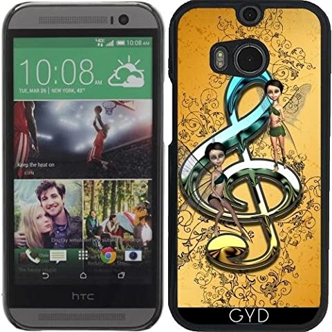 Custodia per Htc One M8 - Bello, Clef Decorativo by nicky2342