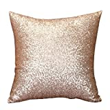 Rosennie Solid Color Glitter Pailletten Dekokissen Fall Cafe Home Decor