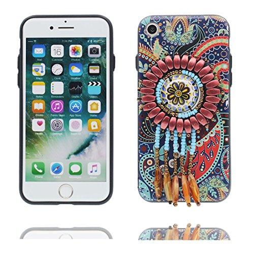 """iPhone 6 6s Coque Cover, 3D fleur Bead accessoire, TPU Flexible Unique Designed Style national iPhone 6 Étui iPhone 6S Case 4.7"""" Poussière Poof # 5"""