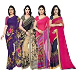 Anand Sarees Synthetic Saree with Blouse Piece (Pack of 4) (PACK_OF_4_1052_4_1086_1_1164_3_1190_1_Multicolour_Free size)