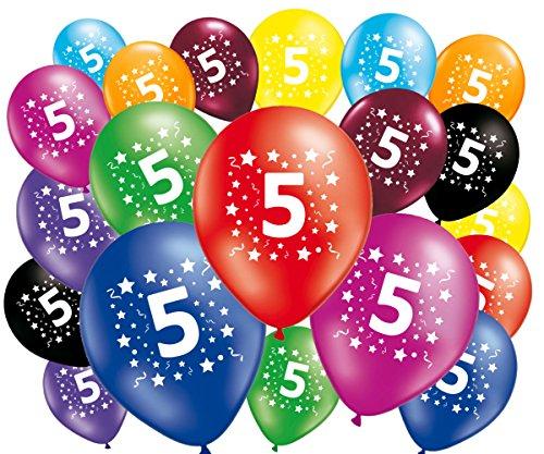 Lote de 20globos cumpleaños 5años