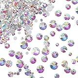 Faburo 1500 Stück Flatback Strasssteine Runde Kristall Edelsteine für Schmuck Dekoration