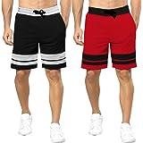 BLIVE Men's Regular Fit Cotton Shorts (Pack of 2)