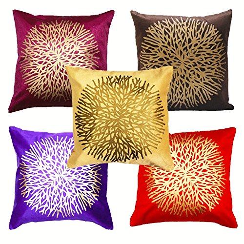 AMAZON DESIGNER PRINT - Belive-Me Beautiful Designer Stylish Cushion Covers Set of 5 (16 x 16 Inches / 40 x 40 cms)