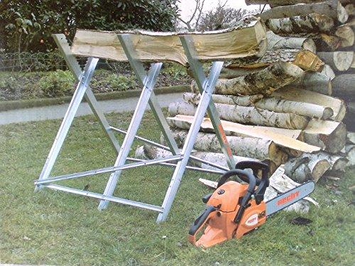 Heavy Duty Sawhorse - Log Saw Horse with Serrated Grip Test