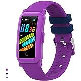 BingoFit Kids Fitness Tracker Horloge voor meisjes en jongens,Waterdichte activiteit Tracker met hartslagslaapmonitor,Digital