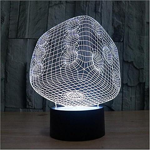 Semplice stereo luce/touch-LED risparmio energetico lampade/creativo arcobaleno dadi 3D notte
