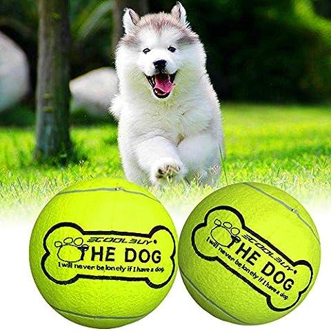 24cm Tennis Ball für Pet Kauen Spielzeug Big aufblasbar Tennisball
