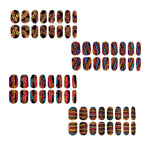 bunten Gradienten-Nagellack-Strips 16 Doppelendfähren Nagel-Abziehbilder Strips Nagel-Kunst-Folien-Aufkleber Über Fashion Style Glitters-Nagel-Kunst-Werkzeug-Nagel-Aufkleber (Nagel Glitter Und Juwelen)