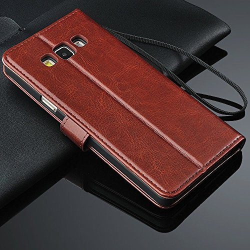 Bracevor Samsung Galaxy A8 Premium Leather Wallet Stand Case Flip Cover – Executive Brown