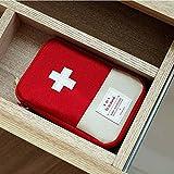 OSYARD Medizinische Beutel Notüberlebens Drogenspeicher Kit Aufbewahrungskiste Draussen Zuhause Rettung Medizinische Versorgung Aufbewahrungsboxen Aufbewahrungstasche,18 * 13CM/15 * 10.5CM