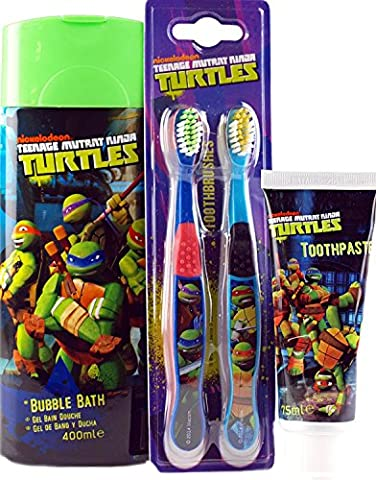 Teenage Mutant Ninja Turtles 3 pièces Ensemble cadeau – Bain Moussant Brosse à dents