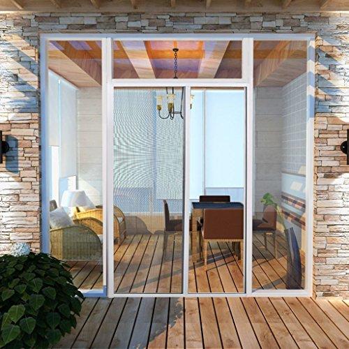 vidaXL Mosquitera blanca corredera para puertas, 120 x 215 cm
