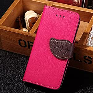 Galaxy S7 Case, Eflistone® Wallet Card Holder PU Leather Pouch Luxury Magnetic Flip Leaf Style Case Cover with Stand for Samsung Galaxy S7 (Rose)