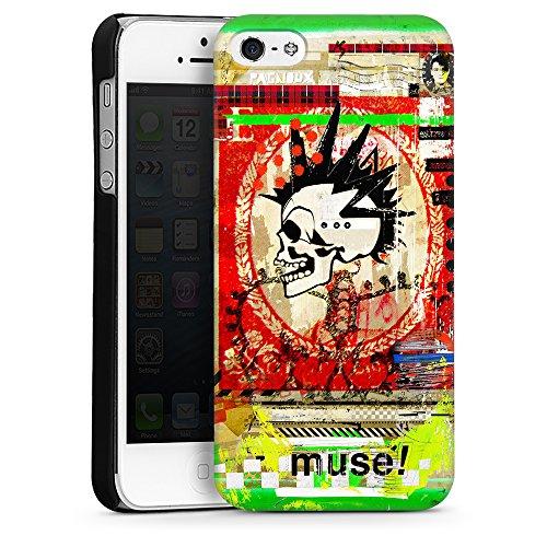 """artboxONE Handyhülle Apple iPhone 6, weiß Sideflip-Case Handyhülle """"muse Case"""" - Abstrakt Collage - Smartphone Sideflip Case mit Kunstdruck von Sandrine Pagnoux Hard Case schwarz"""