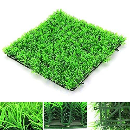 EMVANV Kunstrasen Fake Rasen Turf Kunststoff Grün Pflanzen Matte Eckig Realistisch für Fisch Tank Aquarium Rasen Decor