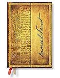 Paperblanks - Faszinierende Handschriften Proust Suche nach der verlorenen Zeit - Kalender 12 Monate 2019 Mini Wochenüberblick Vertikal - deutschsprachige Ausgabe