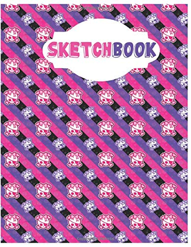 ll Sketchbook for Adults/Children to Sketching, Whiting, Drawing, Journaling and Doodling, Large (8.5x11 Inch. 21.59x27.94 cm.) 120 Blank Pages (PURPLE&PINK&WHITE Pattern) ()
