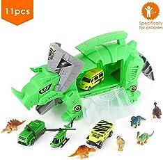 Set di dinosauro scatola di immagazzinaggio Giocattoli Modello di elicottero per auto con porta scorrevole