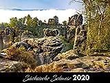 Sächsische Schweiz (Elbsandsteingebirge) 2020: 40x30cm - schwarzes Kalendarium -