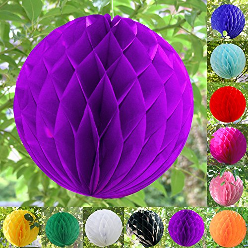 "TtS 4""(10cm) Paper Honeycomb Balls Paper Lanterns Wedding for sale  Delivered anywhere in UK"