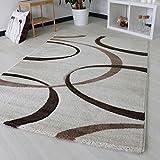 Designer tappeto Modern per soggiorno in beige crema bianco Top di design con motivo, 3.100gr/M² qualità trama fitta con Oeko Tex, crema, 160 x 230 cm